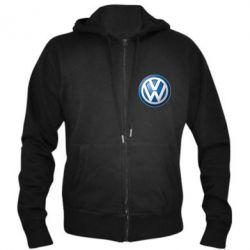 Мужская толстовка на молнии Volkswagen 3D Logo - FatLine