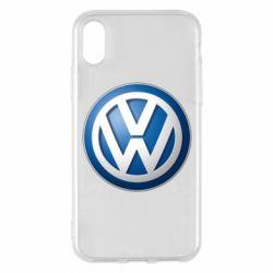 Чохол для iPhone X/Xs Volkswagen 3D Logo