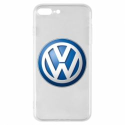 Чехол для iPhone 8 Plus Volkswagen 3D Logo