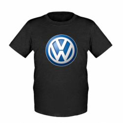 Детская футболка Volkswagen 3D Logo - FatLine