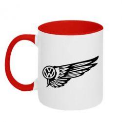 Кружка двухцветная Volkswagen Art
