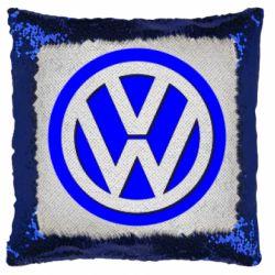 Подушка-хамелеон Логотип Volkswagen