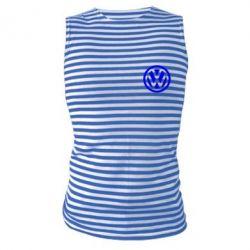 Майка-тельняшка Volkswagen Logo - FatLine