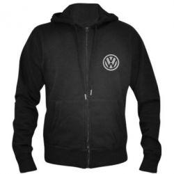Мужская толстовка на молнии Volkswagen Logo - FatLine