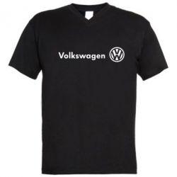 Мужская футболка  с V-образным вырезом Volkswagen Motors - FatLine