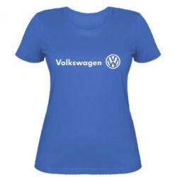 Женская футболка Volkswagen лого - FatLine