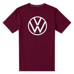 Мужская стрейчевая футболка Volkswagen new logo