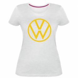 Женская стрейчевая футболка Volkswagen new logo