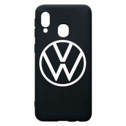 Чехол для Samsung A40 Volkswagen new logo