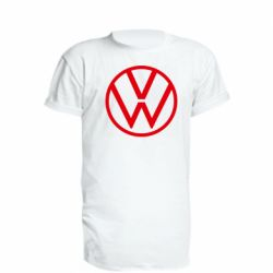 Удлиненная футболка Volkswagen new logo