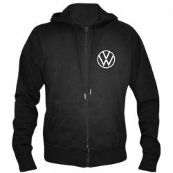 Мужская толстовка на молнии Volkswagen new logo