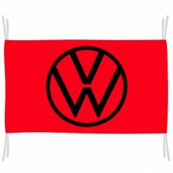 Флаг Volkswagen new logo