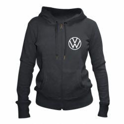 Женская толстовка на молнии Volkswagen new logo