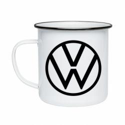 Кружка эмалированная Volkswagen new logo