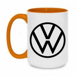 Кружка двухцветная 420ml Volkswagen new logo