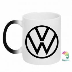 Кружка-хамелеон Volkswagen new logo