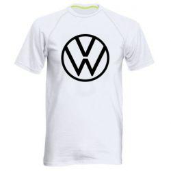 Мужская спортивная футболка Volkswagen new logo