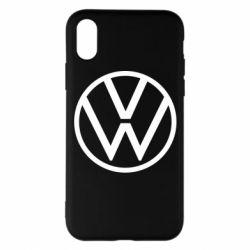 Чехол для iPhone X/Xs Volkswagen new logo