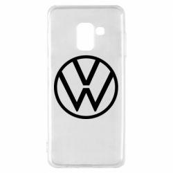 Чехол для Samsung A8 2018 Volkswagen new logo