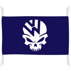 Флаг Volkswagen Skull