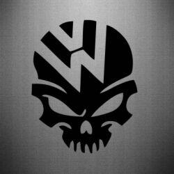 Наклейка Volkswagen Skull - FatLine