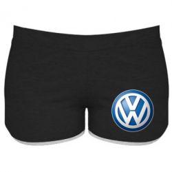 Женские шорты Volkswagen Small Logo, FatLine  - купить со скидкой