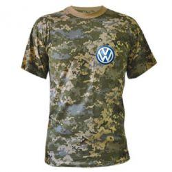 Камуфляжная футболка Volkswagen Small Logo - FatLine