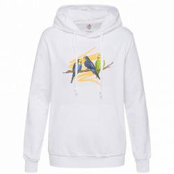 Женская толстовка Волнистые попугайчики