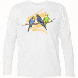 Футболка с длинным рукавом Волнистые попугайчики