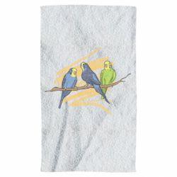 Полотенце Волнистые попугайчики