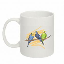 Кружка 320ml Волнистые попугайчики