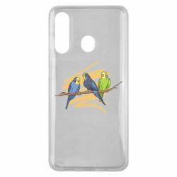 Чехол для Samsung M40 Волнистые попугайчики