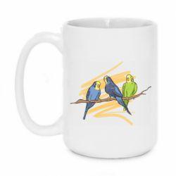 Кружка 420ml Волнистые попугайчики