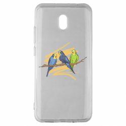 Чехол для Xiaomi Redmi 8A Волнистые попугайчики