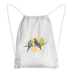 Рюкзак-мешок Волнистые попугайчики