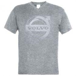 Чоловіча футболка з V-подібним вирізом Volvo logo