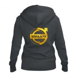 Жіноча толстовка на блискавці Volvo logo