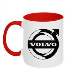 Кружка двоколірна 320ml Volvo logo