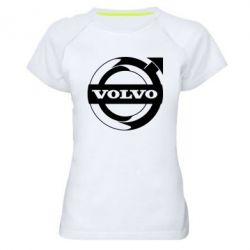 Жіноча спортивна футболка Volvo logo