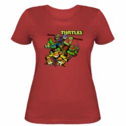 Жіноча футболка Восьмібітних черепашки ніндзя
