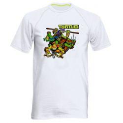 Чоловіча спортивна футболка Восьмібітних черепашки ніндзя