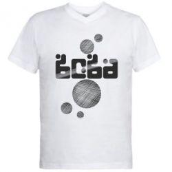 Мужская футболка  с V-образным вырезом Вова