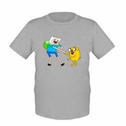 """Детская футболка Время Приключений """"Фин и Джейк"""" - FatLine"""