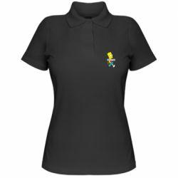 Жіноча футболка поло Всі шляхом Барт симпсон