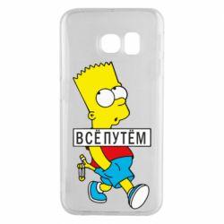Чохол для Samsung S6 EDGE Всі шляхом Барт симпсон