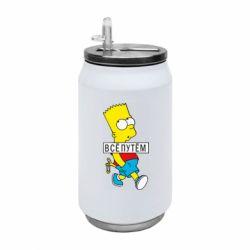 Термобанка 350ml Всі шляхом Барт симпсон