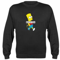 Реглан (світшот) Всі шляхом Барт симпсон