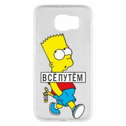 Чохол для Samsung S6 Всі шляхом Барт симпсон