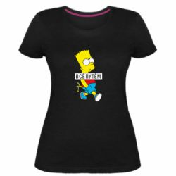 Жіноча стрейчева футболка Всі шляхом Барт симпсон