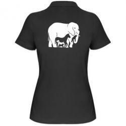 Женская футболка поло все в одном - FatLine